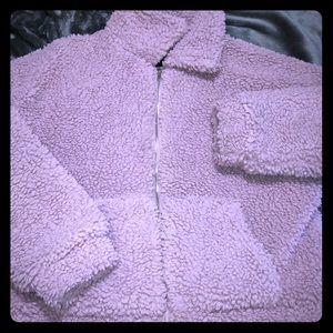 purple teddy bear jacket